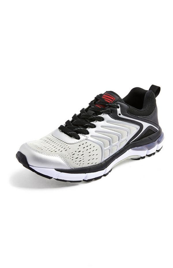Zwart-witte sportieve sneakers met gelzolen