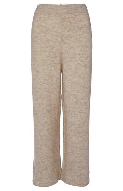 Kombinierbare Haushose mit weitem Bein in Creme