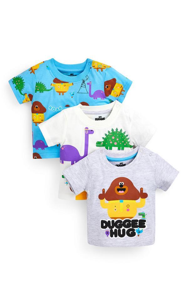 T-shirts Hey Duggee voor baby's (jongens), set van 3