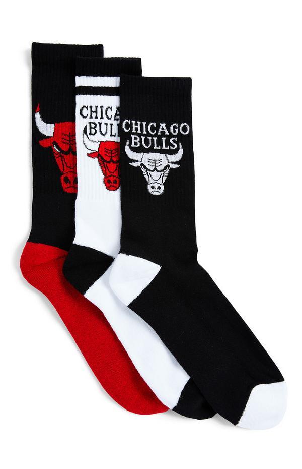 Pack de 3 pares de calcetines de colores variados de los Chicago Bulls de la NBA
