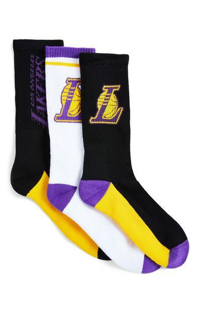 """Verschiedenfarbige """"NBA LA Lakers"""" Socken, 3er-Pack"""