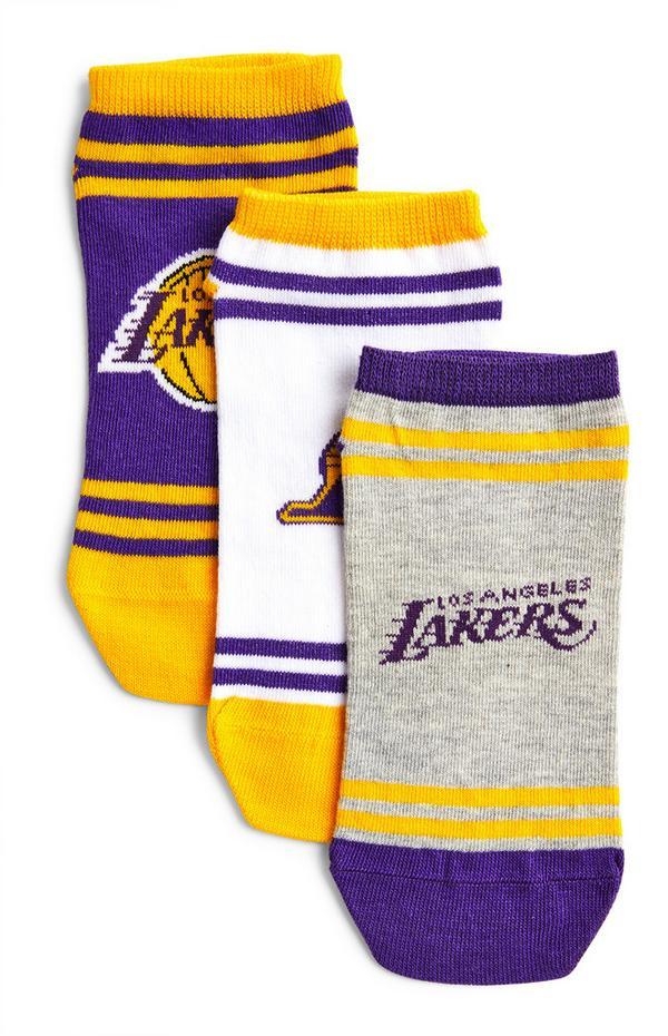Pack de 3 pares de calcetines morados de Los Angeles Lakers de la NBA