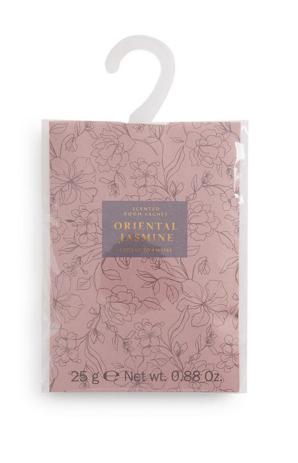 Ambientador saqueta casa estampado Oriental Jasmine rosa