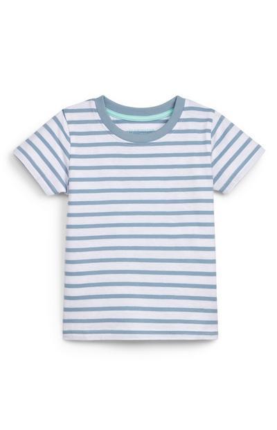 Camiseta de rayas azules para bebé niño