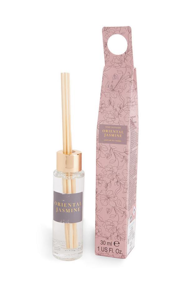 Petit diffuseur de parfum rose avec bâtonnets et imprimé Oriental Jasmine