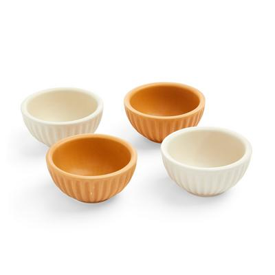 Small Beige Green And Blue Pinch Bowls 3 Pack