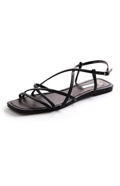 Sandali bassi neri con listini