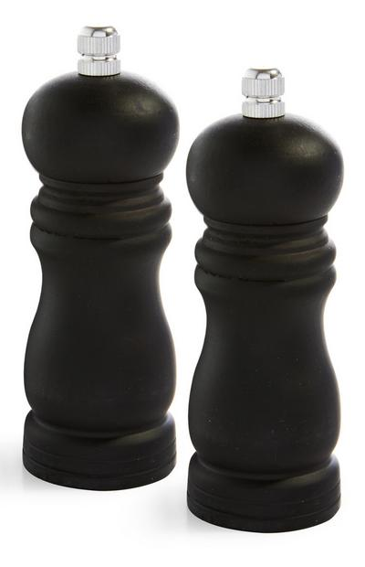 Black Wood Salt And Pepper Set