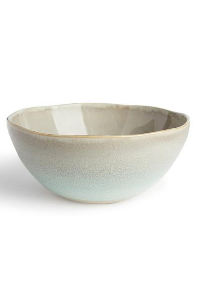 Large Glazed Pottery Bowl