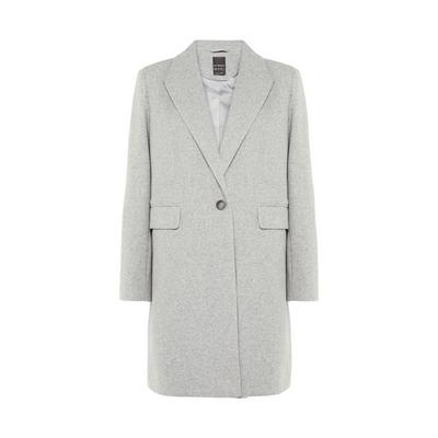 Grey Essential Crombie Coat