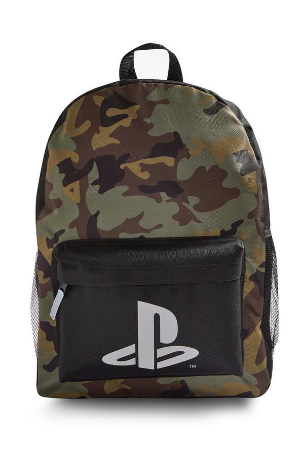 Sac à dos à motif camouflage PlayStation