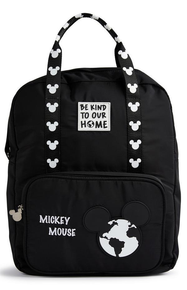 Zwarte rugzak Primark Cares met Disney Mickey