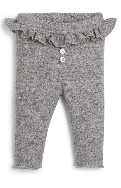 Sive dekliške rebraste pajkice za dojenčke