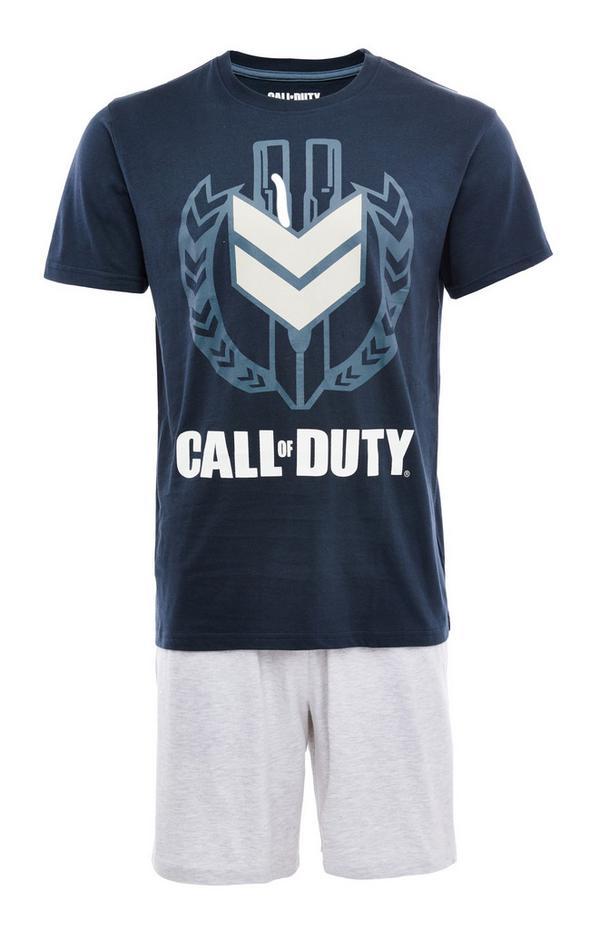 Korte donkerblauwe Call of Duty-pyjamaset