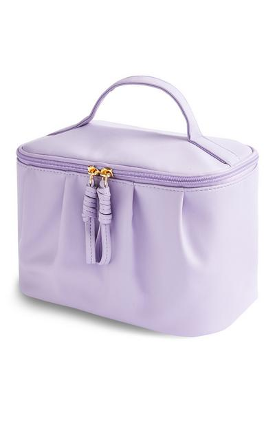Beauty case viola morbido
