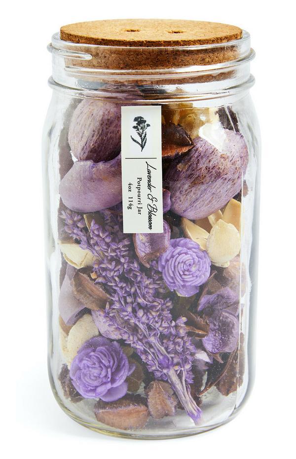 """Lavender & Blossom"" Potpourriglas mit Korkdeckel"