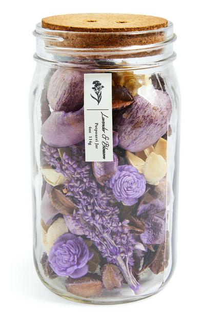 Lavender And Blossom Potpourri Jar With Cork Lid