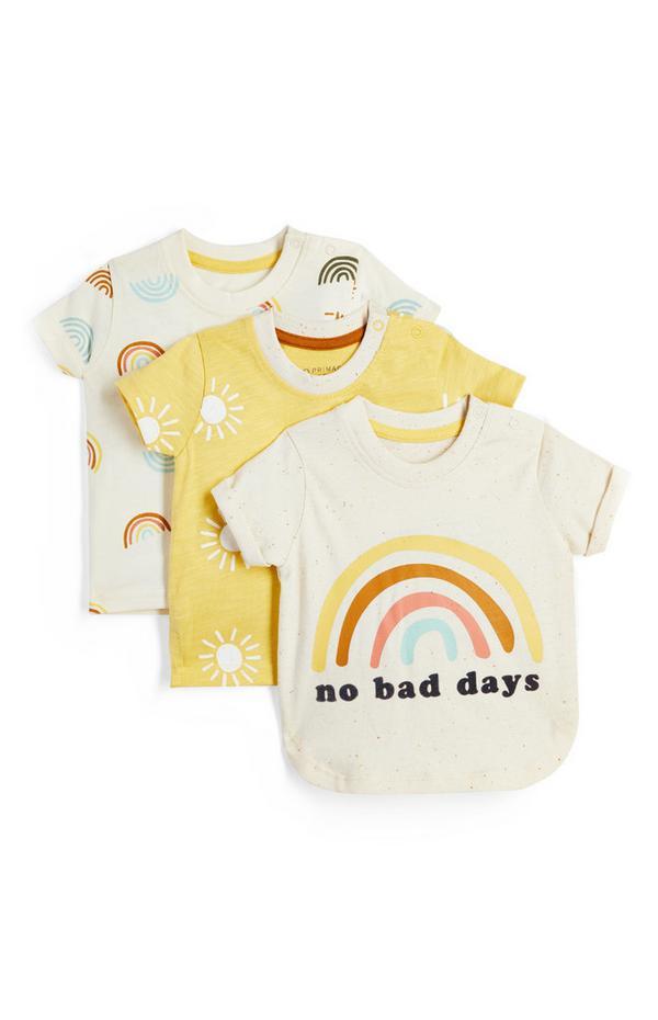 Baby Boy Sunshine T-Shirt 3 Pack