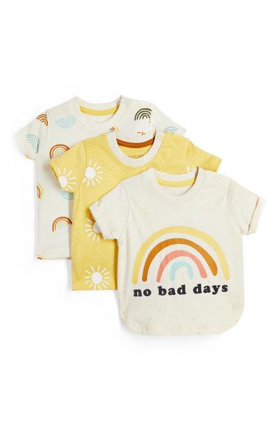 Fantovska majica s sončnim motivom za dojenčke, 3 kosi