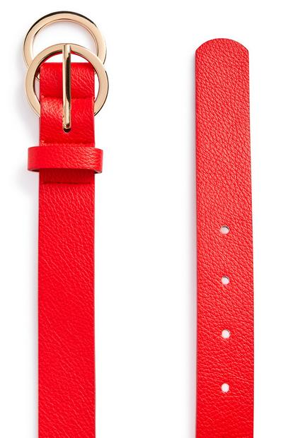 Red Mini Overlapping Infinity Belt