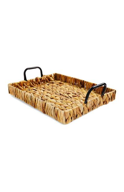 Woven Rattan Serving Tray