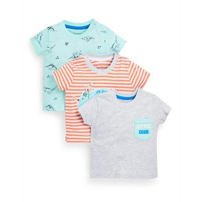 Baby Boy Mixed Print T-Shirts 3 Pack
