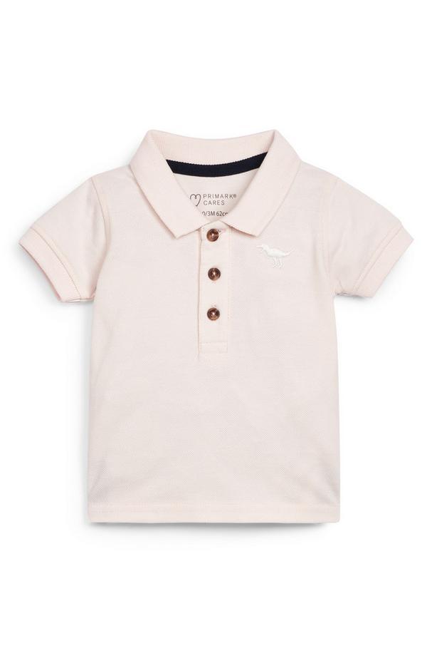Roze T-shirt met polokraag voor baby's (jongens)
