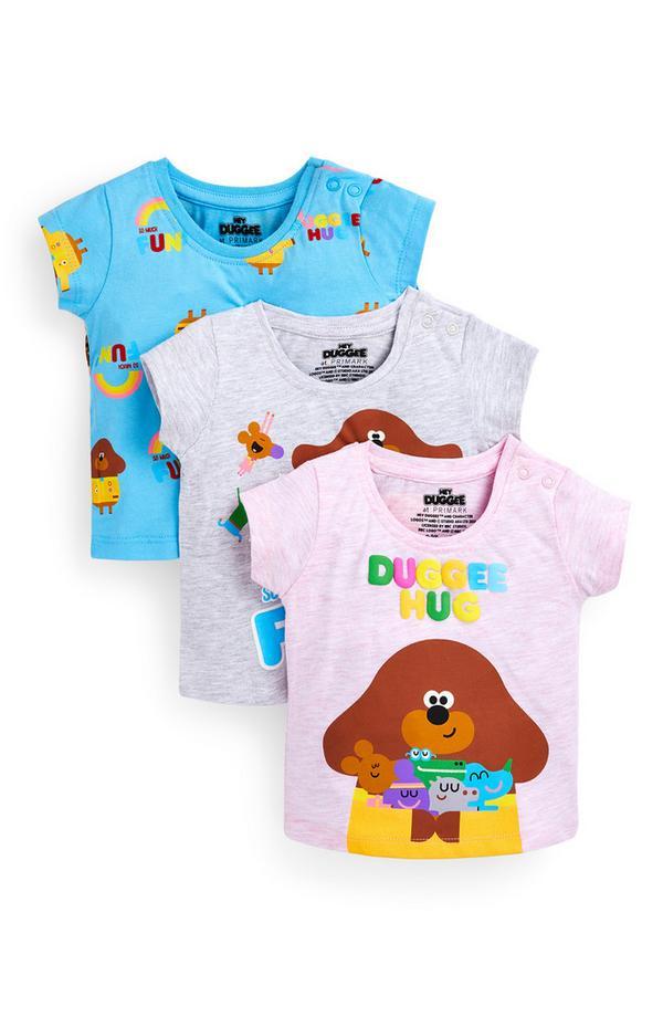 T-shirts Hey Duggee voor baby's (meisjes), set van 3
