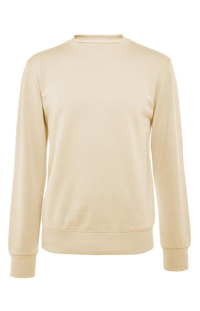 Sweat-shirt jaune en coton Premium