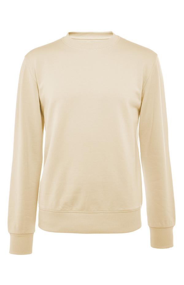 Sweat-shirt jaune en coton Premium