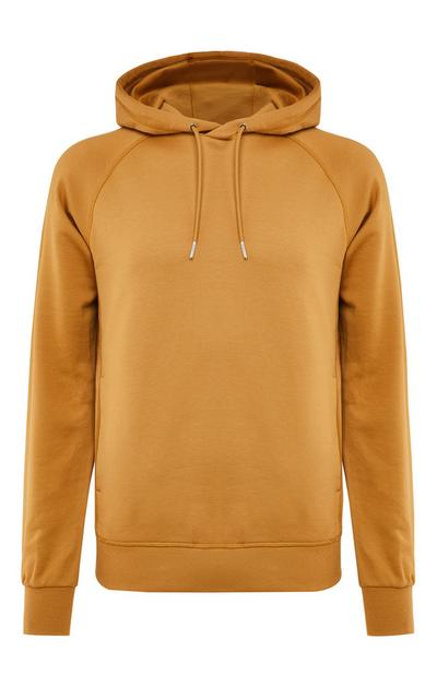 Premium Tan Cotton Pull Over Hoodie