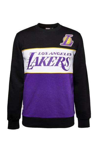 Black NBA LA Lakers Crew Neck Sweatshirt
