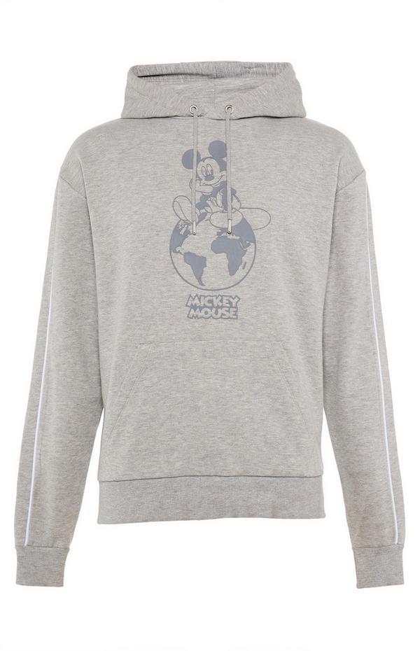 Grijze hoodie Primark Cares met Disney Mickey