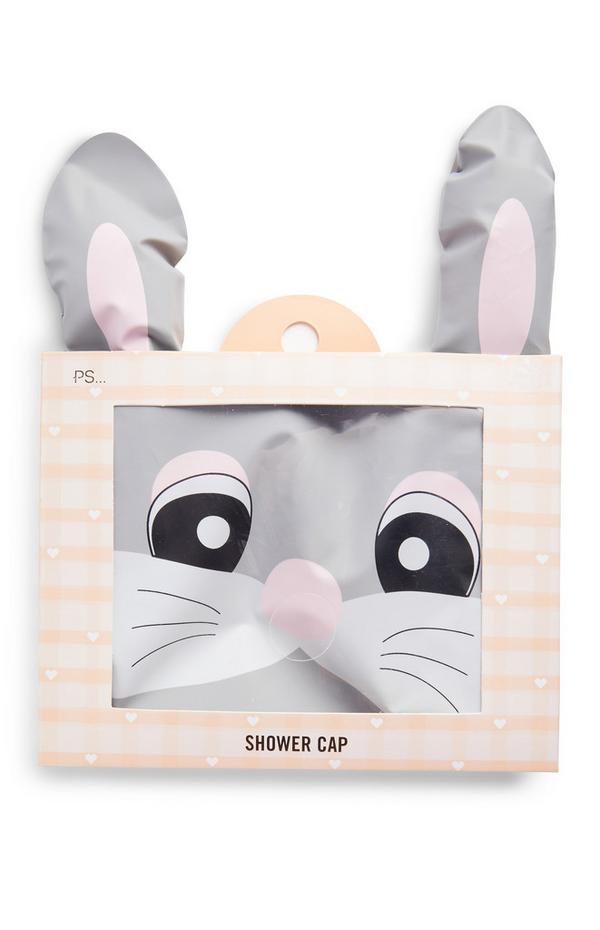 Grey Easter Bunny Shower Cap