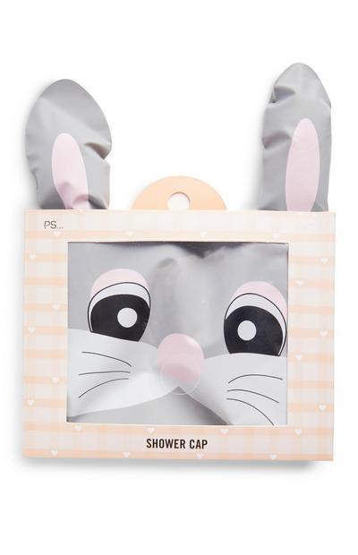 Grey Easter Bunny Shower Cap