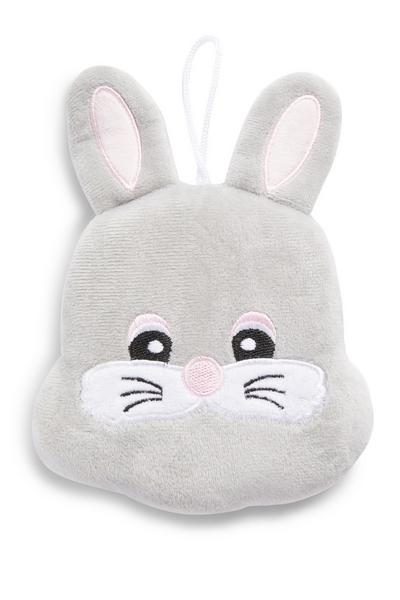 Grey Easter Bunny Body Puff