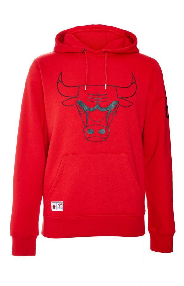Felpa rossa con cappuccio NBA Chicago Bulls