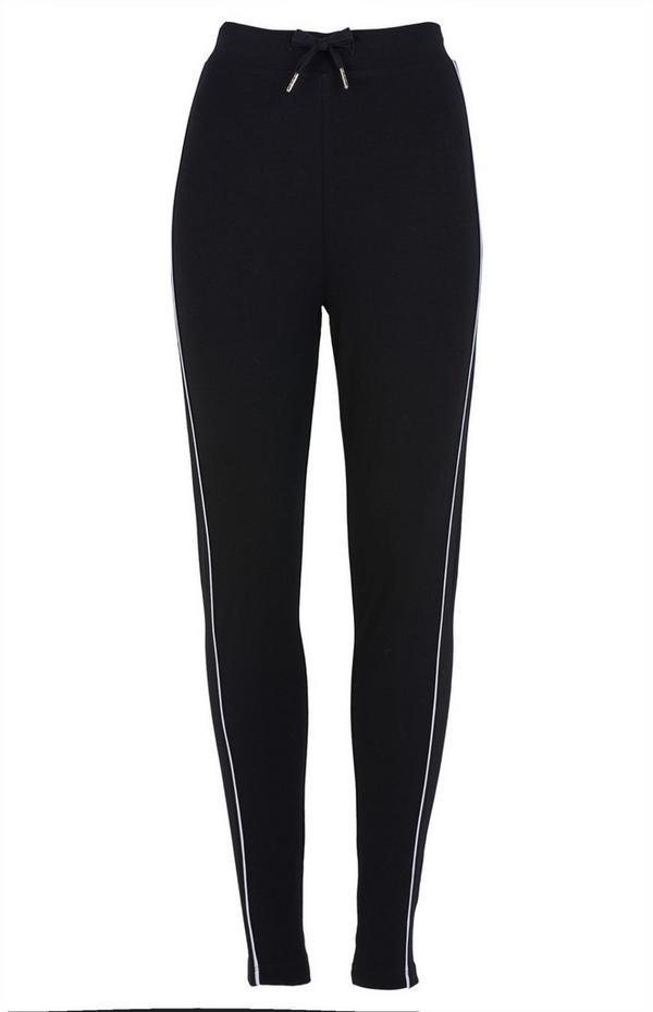 Black Drawcord Leggings