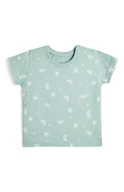 Baby Boy Mint Print T-Shirt
