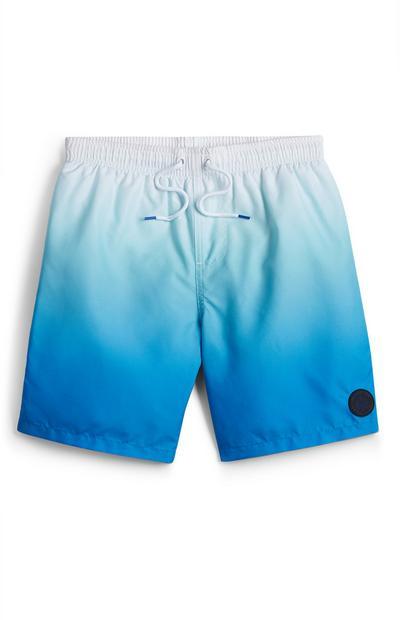 Blaue Badeshorts im Ombré-Look (Teeny Boys)