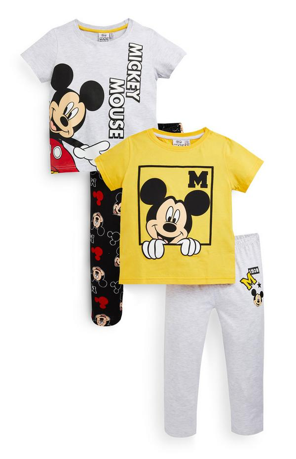 Younger Boy Disney Mickey Mouse Pyjamas 2 Pack