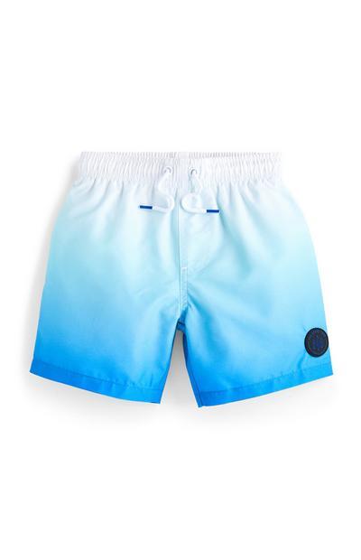 Younger Boy Blue Dip Dye Swim Shorts
