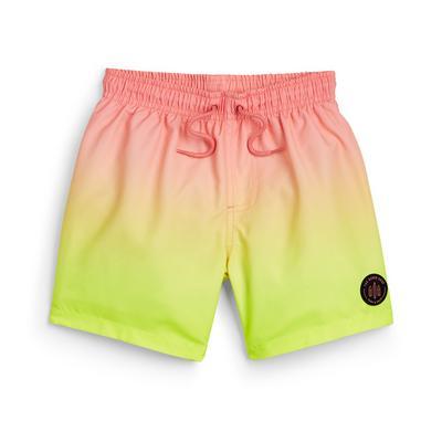 Younger Boy Coral Dip Dye Swim Shorts