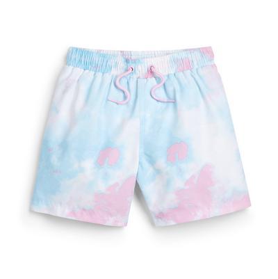 Younger Boy Blue Tie Dye Swim Shorts