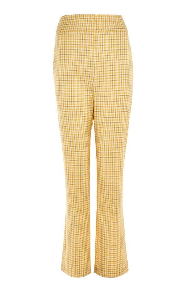 Pantaloni gialli a quadri stile gelataio
