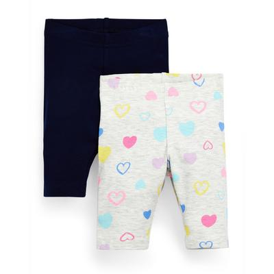 Baby Girl Mixed Cropped Leggings 2 Pack