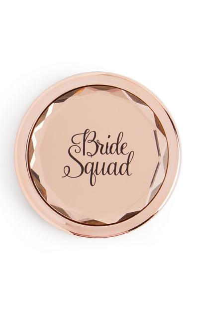 Rose Goldtone Bride Squad Compact Mirror