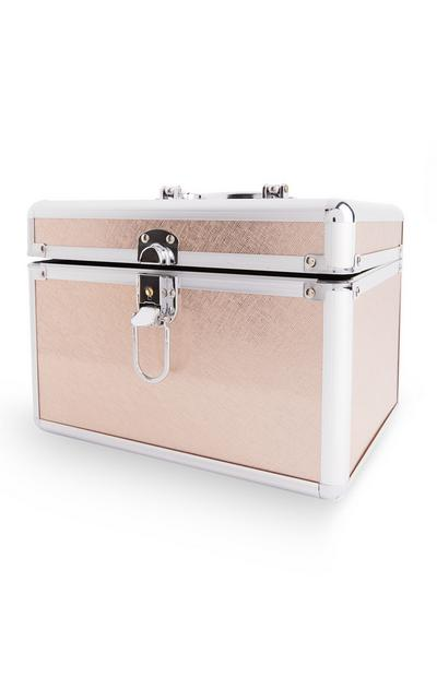 Rose Goldtone Bridal Vanity Case