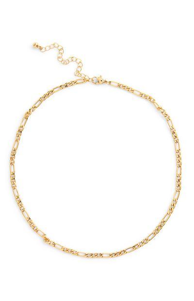 Goldfarbene filigrane Halskette