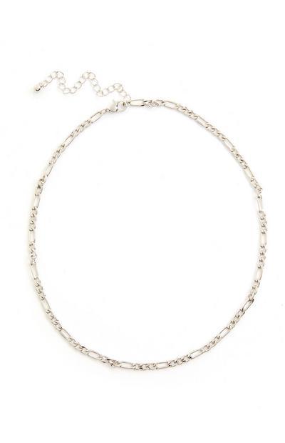 Silvertone Delicate Curb Chain Necklace